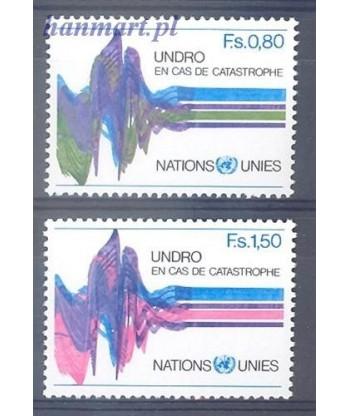 Narody Zjednoczone Genewa 1979 Mi 81-82 Czyste **