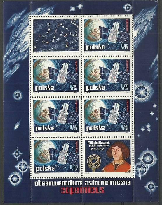 Polska 1973 Mi bl 54B1 Fi ark 2109B1...