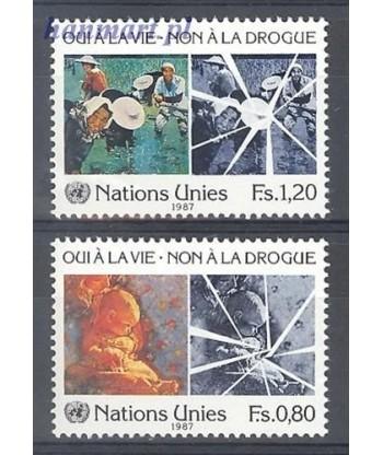 Narody Zjednoczone Genewa 1987 Mi 156-157 Czyste **