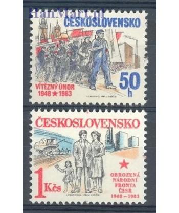 Czechosłowacja 1983 Mi 2703-2704 Czyste **