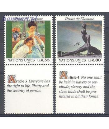 Narody Zjednoczone Genewa 1989 Mi 180-181 Czyste **