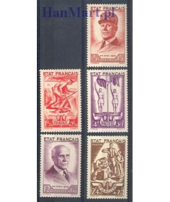 Francja 1943 Mi 589-593 Czyste **