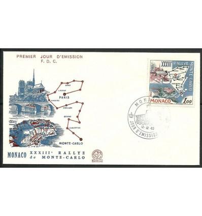 Monaco 1963 Mi 740 FDC