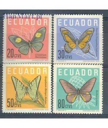 Ekwador 1961 Mi 1070-1073 Czyste **