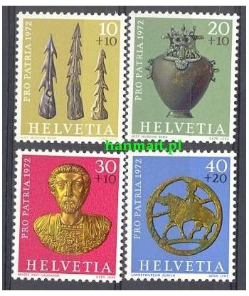 Szwajcaria 1972 Mi 971-974 Czyste **