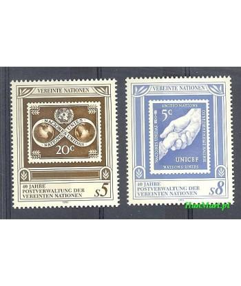 Narody Zjednoczone Wiedeń 1991 Mi 121-122 Czyste **