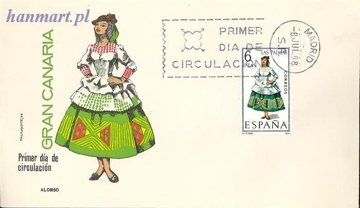 Hiszpania 1968 Mi 1764 FDC