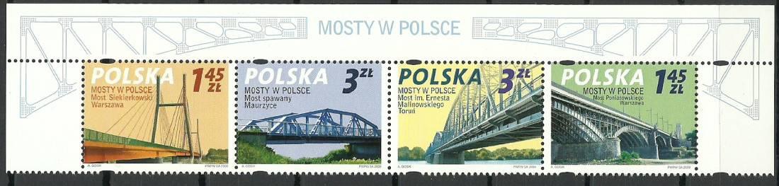 Polska 2008 Mi 4373-4376 Fi 4223-4226...