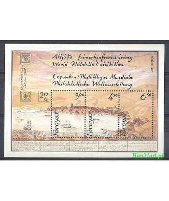 Wyspy Owcze 1986 Mi bl 2 Czyste **