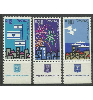Israel 1966 Mi 356-358 MNH