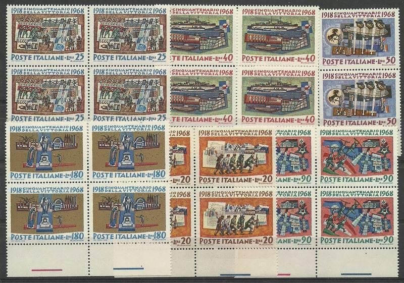 Italy 1968 Mi 1283-1288 MNH
