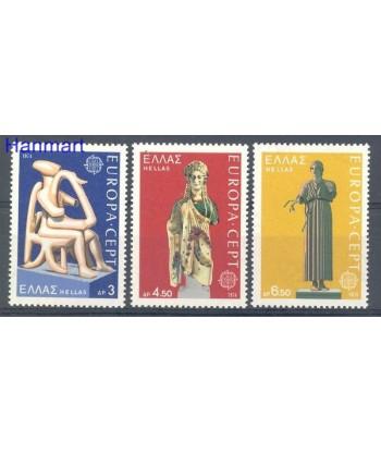 Grecja 1974 Mi 1166-1168 Czyste **