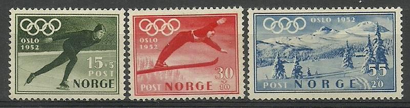 Norway 1951 Mi 372-374 mh - mint hinged