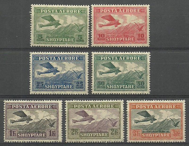 Albania 1925 Mi 126-132 Z podlepką *