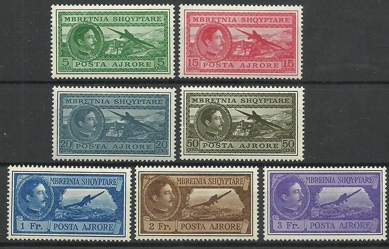 Albania 1930 Mi 228-234 Z podlepką *