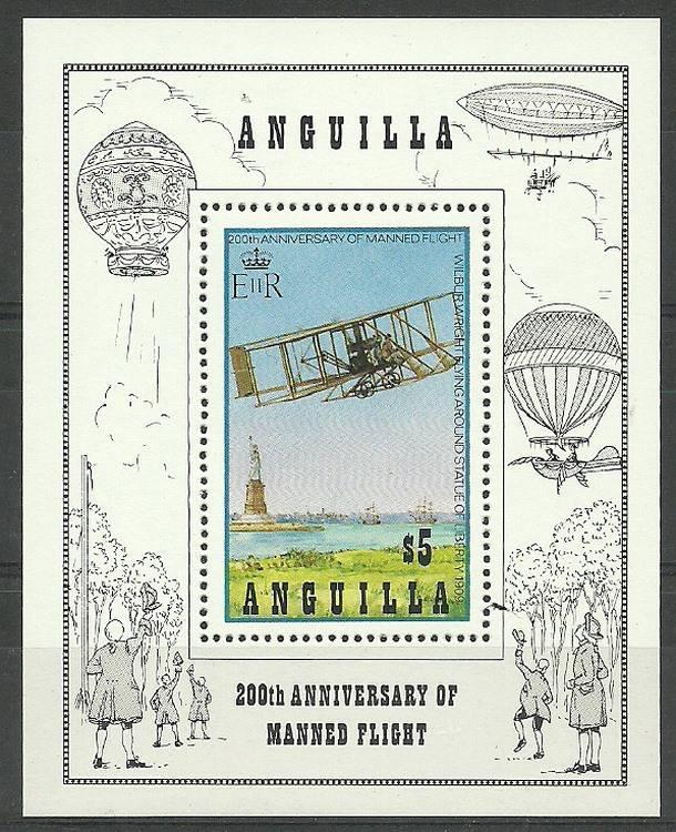 Anguilla 1983 Mi bl 50 Czyste **