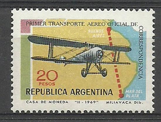 Argentyna 1969 Mi 1033 Czyste **