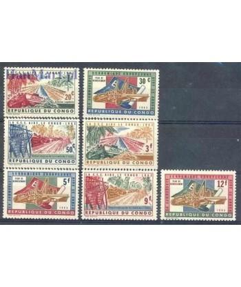Kongo Kinszasa / Zair 1963 Mi 131-137 Czyste **