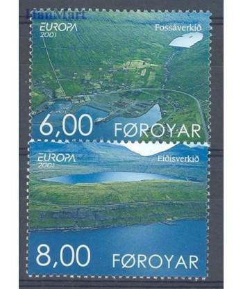 Wyspy Owcze 2001 Mi 402-403 Czyste **