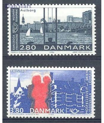 Dania 1986 Mi 868-869 Czyste **