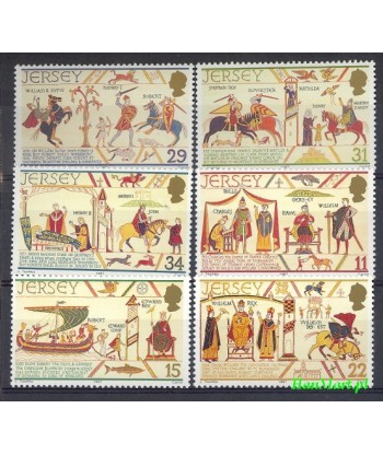 Jersey 1987 Mi 414-419 Czyste **