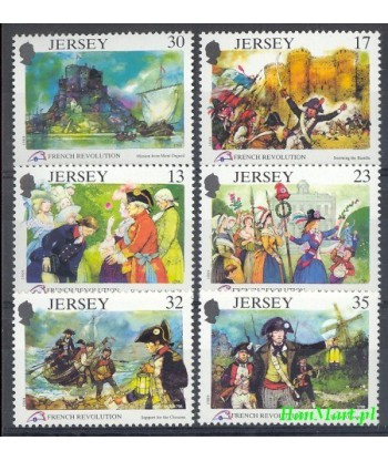 Jersey 1989 Mi 485-490 Czyste **