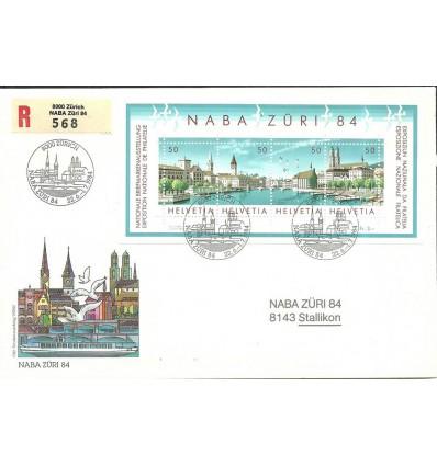 Switzerland 1984 Mi bl 24 FDC