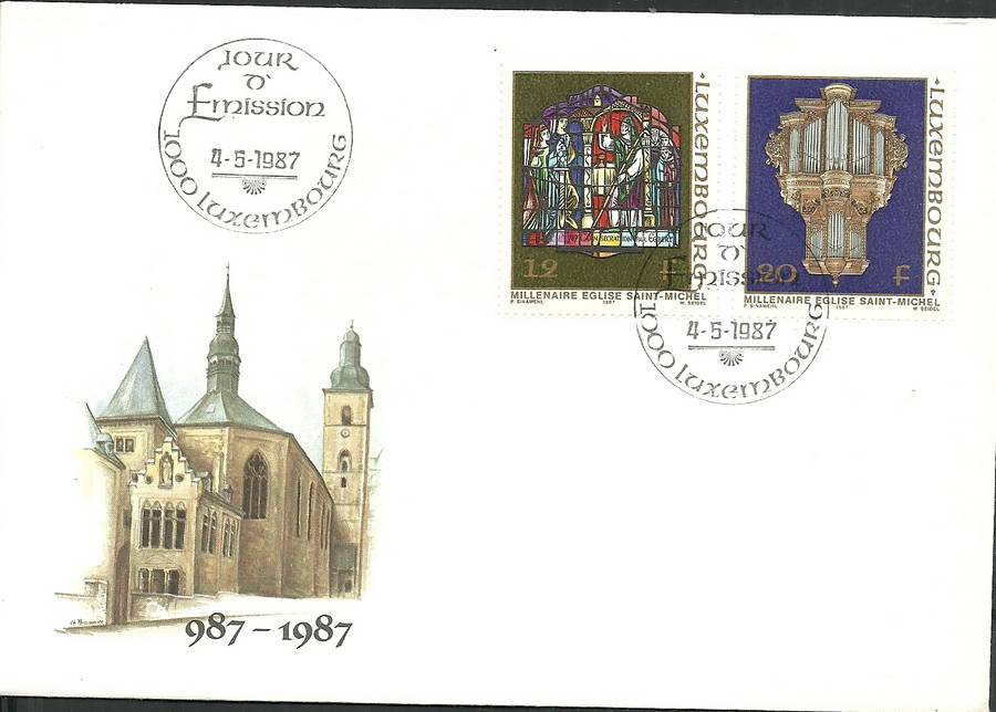 Luxembourg 1987 Mi 1176-1177 FDC