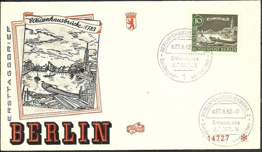 Berlin Germany 1962 Mi 219 FDC