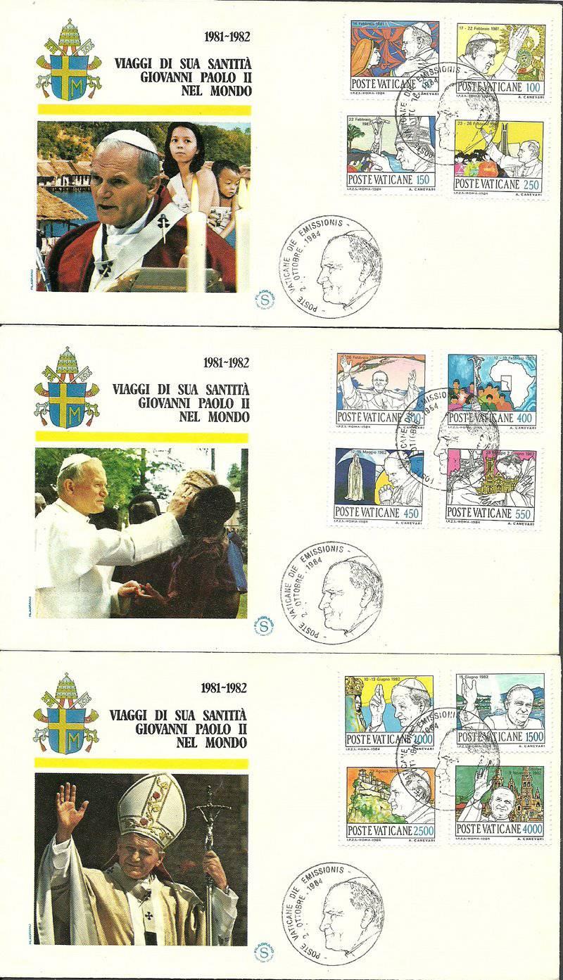 Vatican 1984 Mi 852-863 FDC