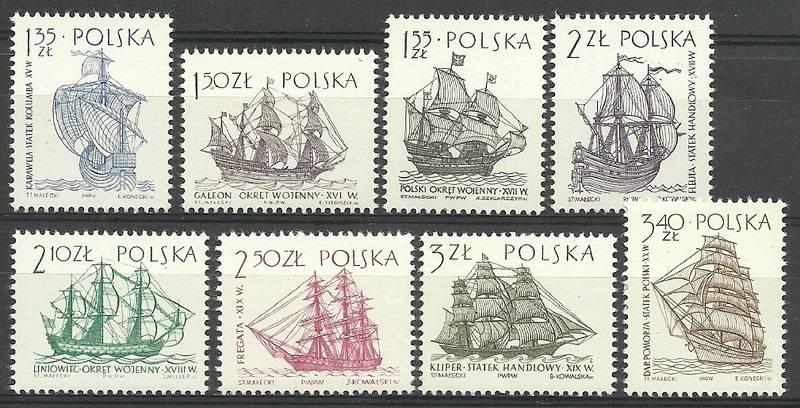 Polska 1964 Mi 1465-1472 Fi 1317-1324...