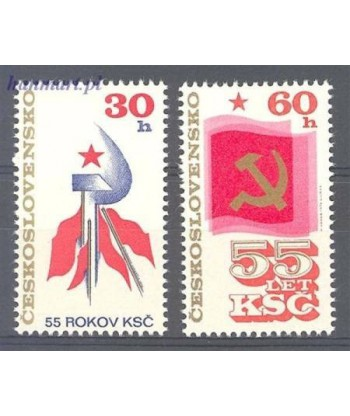 Czechosłowacja 1976 Mi 2321-2322 Czyste **