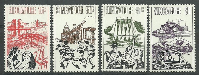Singapore 1973 Mi 174-177 MNH