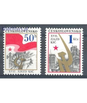 Czechosłowacja 1986 Mi 2853-2854 Czyste **