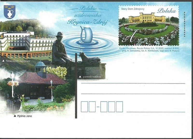Polska 2020 Fi 1896 Całostka pocztowa