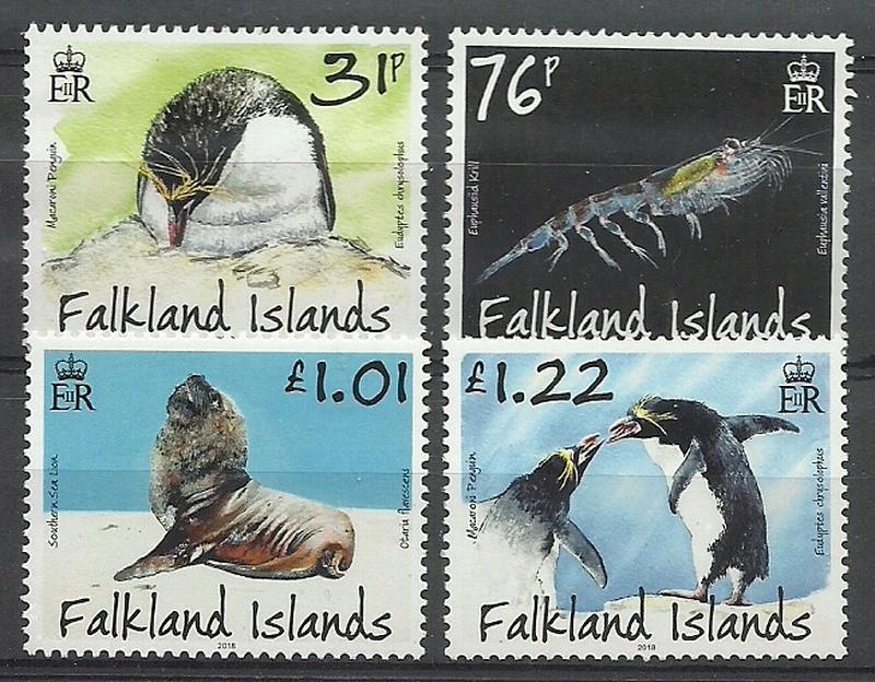Falklandy 2018 Mi 1361-1364 Czyste **