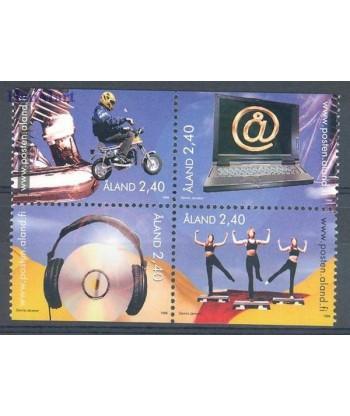 Wyspy Alandzkie 1998 Mi 136-139 Czyste **