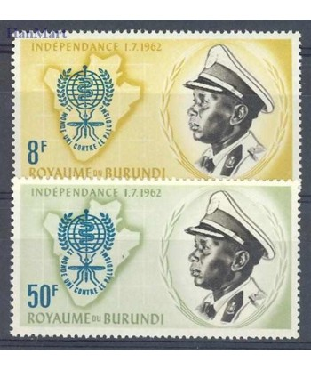 Burundi 1962 Mi 40-41 Czyste **