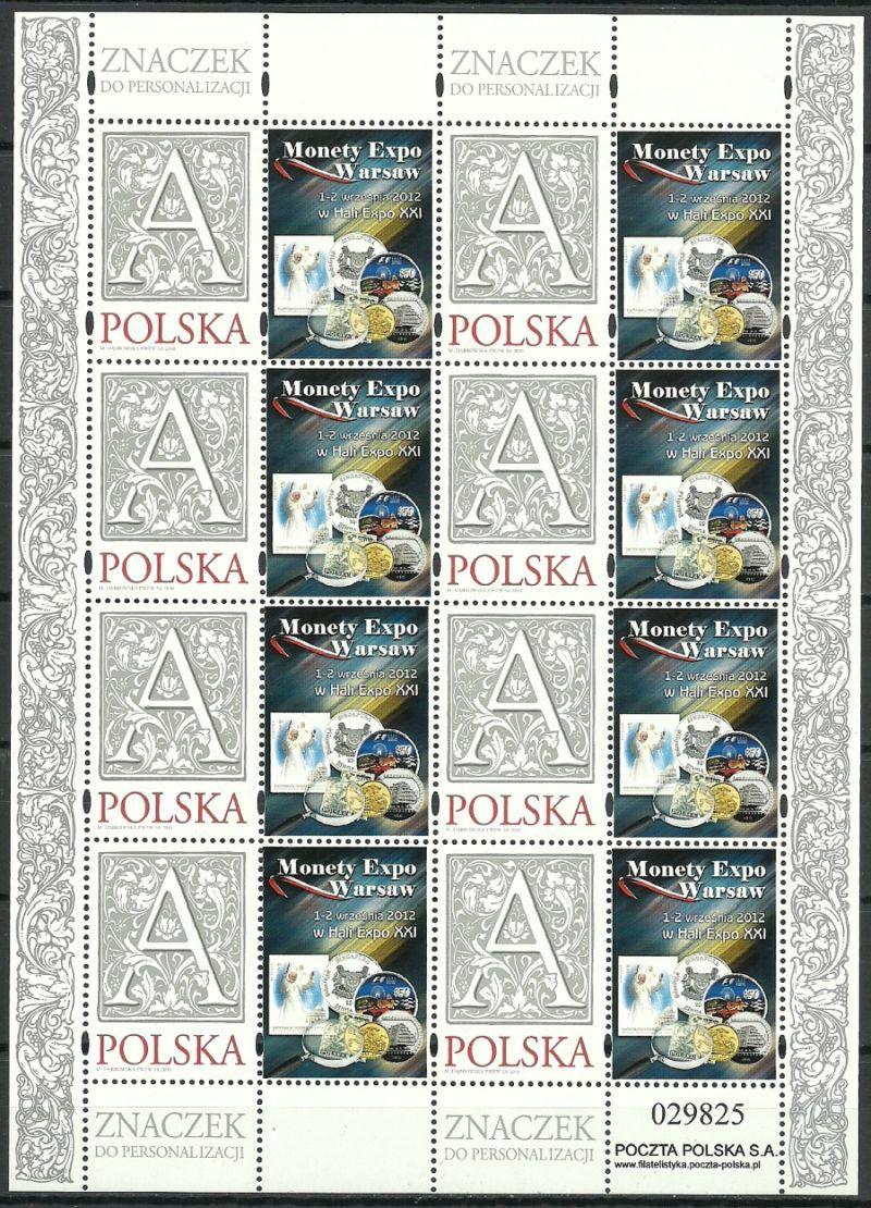 Poland 2012 Mi ark 4499 Fi ark 4349a MNH