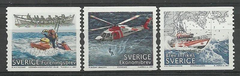 Sweden 2007 Mi 2575-2577C MNH