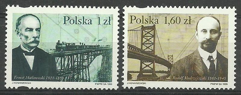 Polska 1999 Mi 3746-3747 Fi 3598-3599...
