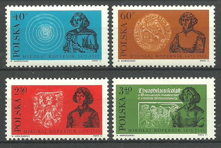 Polska 1972 Mi 2182-2185 Fi 2043-2046...