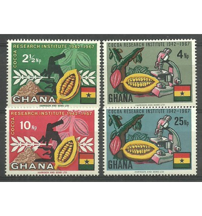 Ghana 1968 Mi 334-337 MNH