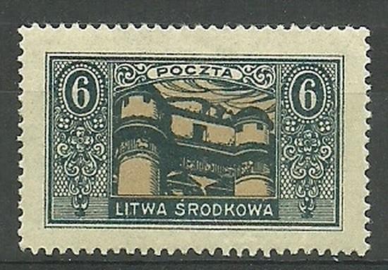 Litwa Środkowa 1921 Mi 39 Fi 39 Z...