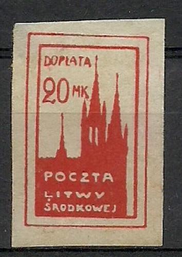 Central Lithuania 1921 Mi por 6B Fi...