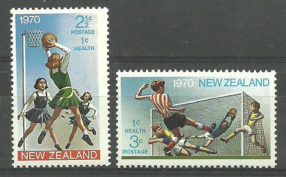 New Zealand 1970 Mi 543-544 MNH