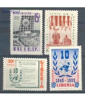 Liberia 1955 Mi 483-486 Czyste **