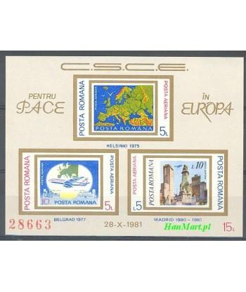 Rumunia 1981 Mi bl 183 Czyste **