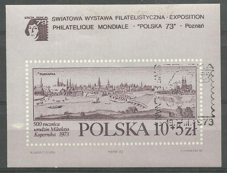 Polska 1973 Mi bl 56 Fi bl 91...