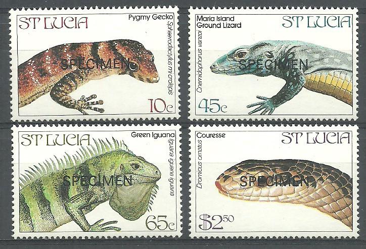 Saint Lucia 1984 Mi spe 660-663...